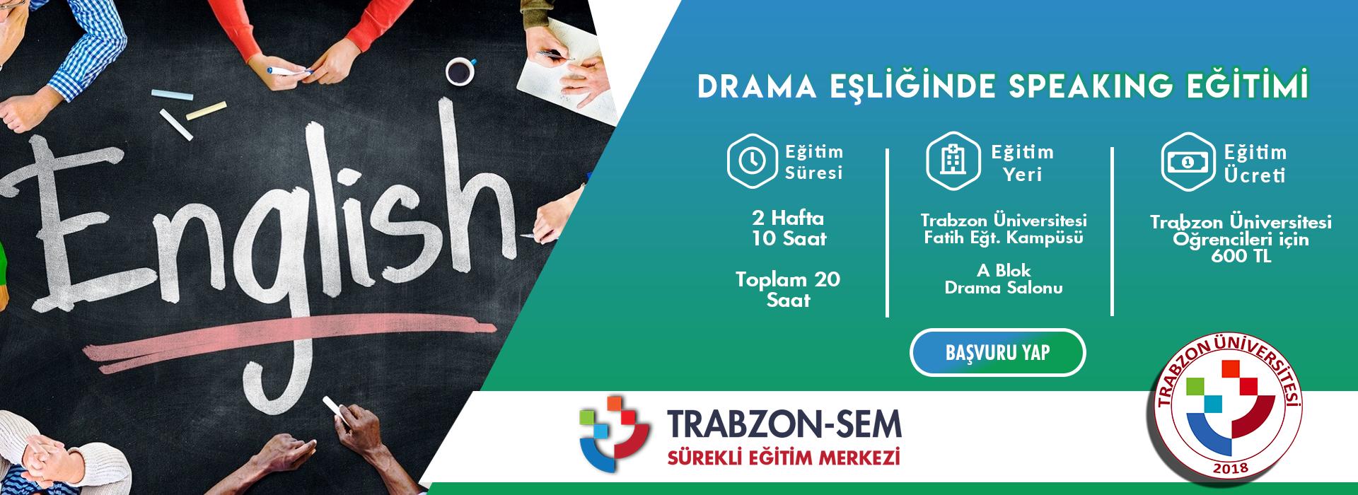 Drama Eşliğinde Speaking Eğitimi