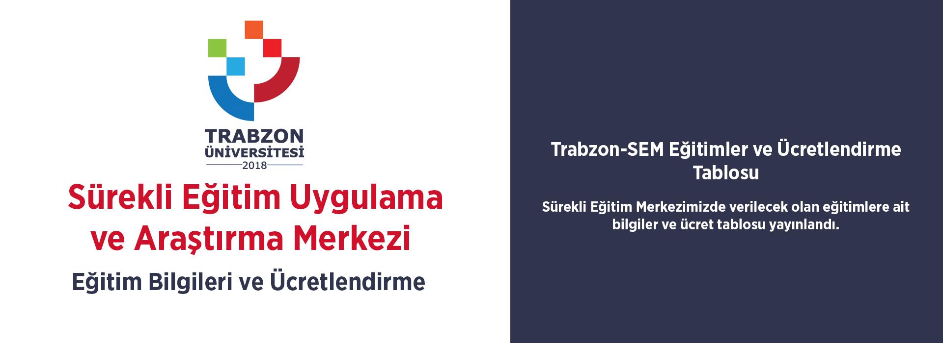 Trabzon-SEM Eğitimler ve Ücretlendirme