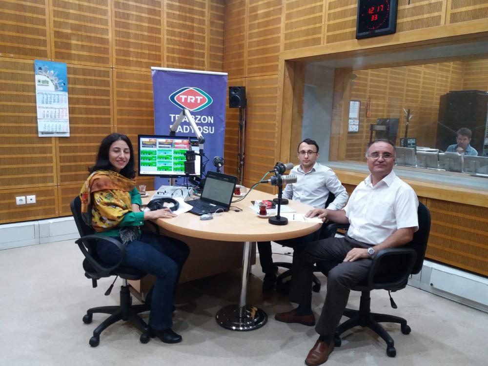 """TRT Trabzon Radyosu'nda """"Ceza Muhakemesinde Uzlaştırmacı Eğitimi"""" Konulu Canlı Yayın Programı Gerçekleştirildi"""